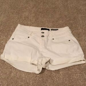 White High Rise Shorts- stretchy denim!!